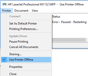 SOLVED] Windows 10 : Printer is in Error State & Offline – Ebugg-i com